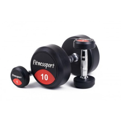Гантельный ряд Fitnessport 1-10кг  (10 пар).