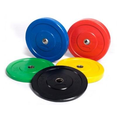 Бамперный диск для кроссфита (красный) 25 кг.