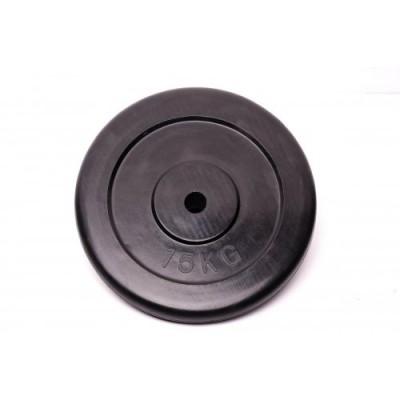 Диск домашний обрезиненный черный 15кг.