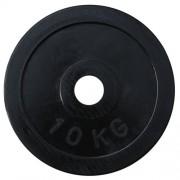 Диск олимпийский обрезиненный черный 10кг.