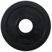 Диск олимпийский обрезиненный черный 2.5кг.