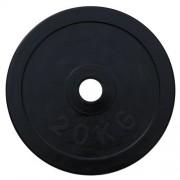 Диск олимпийский обрезиненный черный 20кг.