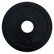 Диск олимпийский обрезиненный черный 5кг.