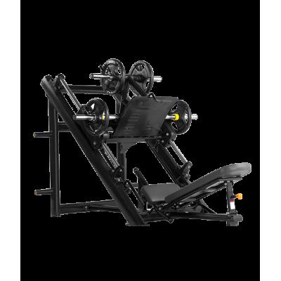 BRONZE GYM H-022 Жим ногами под углом 45 градусов (ЧЁРНЫЙ)