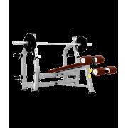 BRONZE GYM J-024 Скамья для жима с отрицательным наклоном (КОРИЧНЕВЫЙ)