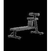 BRONZE GYM H-035 Скамья для скручиваний горизонтальная (ЧЁРНЫЙ)