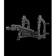 BRONZE GYM H-024 Скамья для жима с отрицательным наклоном (ЧЁРНЫЙ)